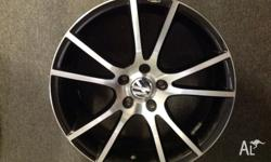 "Four MAK 18"" x 8 Veleno ET35 mag wheels with nuts. Cost"