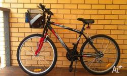 18 speed ,6 months used mountain bike, good condition