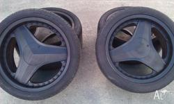 "set of four 18"" rims and tyres to suit toyota supra. 2"