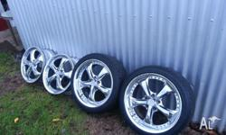 Up for sale are a full set of 18' VS XF WORK rims that