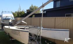 This catamaran is in great condition with just having