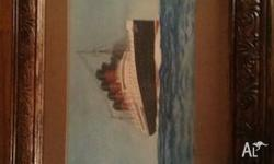 1915 Water Colouring Not sure if its the Titanic or