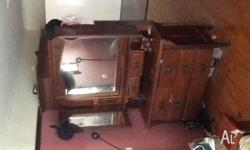 Dressing table, rosewood, needs to go Make an offer See