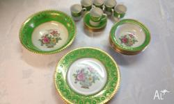 6 x luncheon plates 6 x sweets dishes 6 x coffee cups &