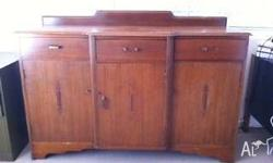 This retro sideboard with gorgeous detail was given to
