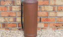 SIMPLEX FIRE EXTINGUISHER - WORMALD BROS . MADE IN 1957