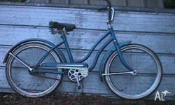 A bike for the collecter, this is a blue 20 inch bike,