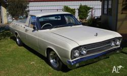 XT Falcon Ute with Fairlane front and interior. It has