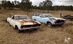 2 XB Falcon Utes suit restoraton. Price is for both.