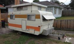 1981 Franklin POP-TOP caravan with solid pop top