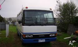 1982 Toyota Coaster Bus Seats removed Starts well and