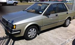 This is a 1985 Nissan Pulsar Automatic, it is a 1 owner