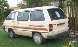 i am selling my toyota tarago auto, no rego, no rwc,