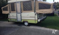 1986 Viscount wind-up camper in great condition,