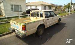 i have for sale a mazda twin cab ute, goes well, bodys