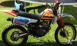 Old XR250R.Fair condition for its age.New front