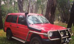Hello, We are selling our 4WD Mitsubishi Pajero perfect