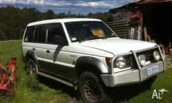 mitsubishi pajero 4x4 7 seat wagon has broken bolt for