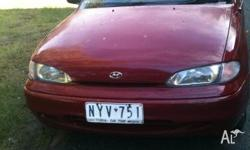 Maroon hyundai excel $2000 BUT WILLING TO NEGOTIATE