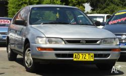 TOYOTA COROLLA SECA 1997 MODEL WITH MARCH 2015 REGO OUR