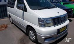 1998 NISSAN ELGRAND CAMPERVAN AUTO MAG WHEELS POWER
