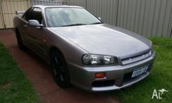 1998 Nissan Skyline 25GT-T R34 Silver NEO RB25 2.5lt