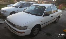 1999 Toyota Corolla, runs great and well looked after.