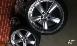 I've only seen one set of these 3 piece rims for sale