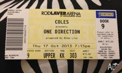 Currently available 1 One Direction Ticket for the 17th