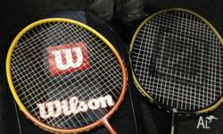 Very good condition 2 Willson badminton racket also