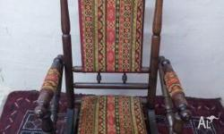 Antique Edwardian Dexter Spring Base Rocking Chair