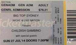 1x ticket to Childish Gambino - The Deep Web Tour [SOLD