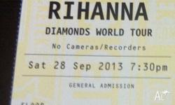 1x General Admission ticket for sale for Rihanna