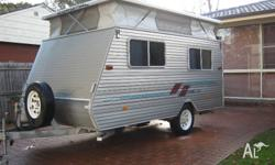 This pop top caravan is in great condition, was seldom