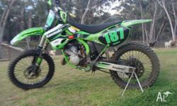 up for grabs is me beloved 2000 kx125, always run on 98