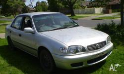 TOYOTA COROLLA ASCENT SEDAN..2000 Needs ROOF-BONNET