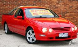 2001 Ford Falcon Auii XR6 Red 4 Speed Automatic Utility