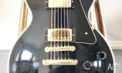 "Up for sale is Gibson Les Paul Custom ""Black Beauty"" in"