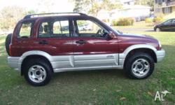 Suzuki Grand Vitara Wagon 4X4,Red,2001Model,V6