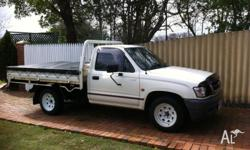 READY TO WORK This Toyota Hilux Cab Chassis is the