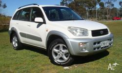 2001 TOYOTA RAV4 CRUISER AWD 5 DOOR AUTO, WITH GREAT