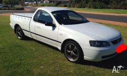 2002 BA Ford Ute 132500kms, auto, air cond, power