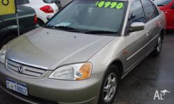 2002 HONDA CIVIC, AUTOMATIC, AIRCON, POWER STEER, ALL