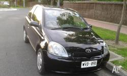 2002 Toyota Echo Hatchback Automatic Black Compact