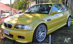 2003 BMW M3 E46 Yellow 5 Speed Auto Active Sequential