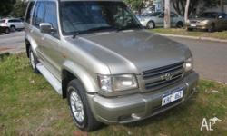 Holden Jackaroo, auto, air, steer, cd player and
