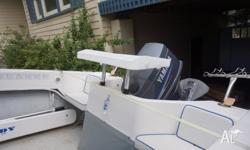 Excellent boat for both skiing and fishing Boat has