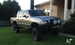 2003 Toyota hilux dual cab ute, 3.4lt V6, extractors