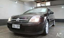 2004 Holden Vectra ZC MY04 CD Black 5 Speed Manual