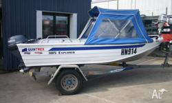 2004 QUINTREX 385 EXPLORER WITH YAMAHA 15HP 4STROKE